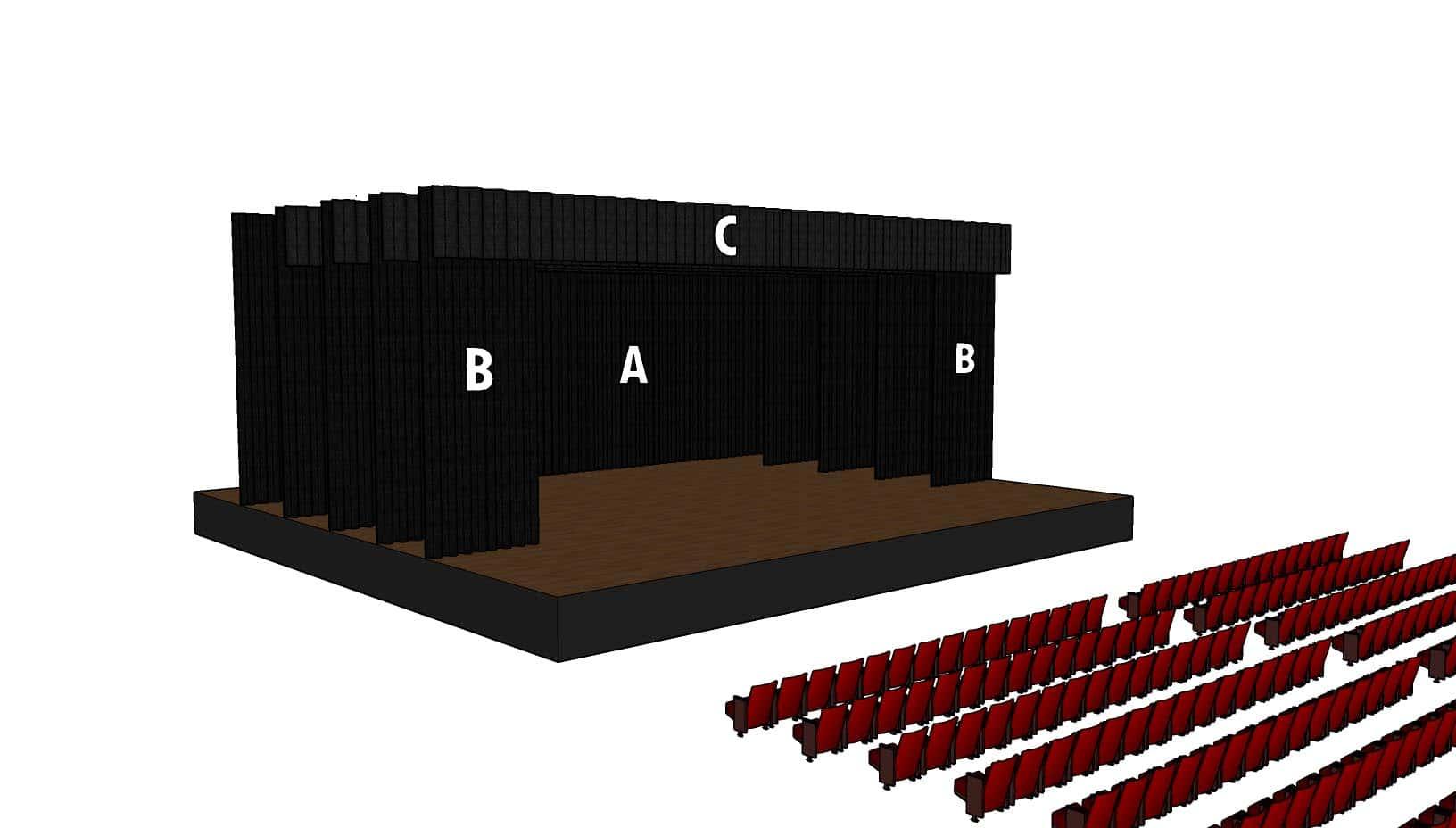 Parts d'una càmera negra de teatre